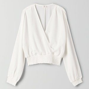 WILFRED Reign Blouse WHITE SIZE SMALL
